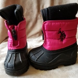 Girls U.S Polo Winter Boots